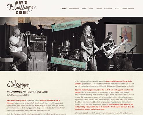 Bild Projekt Webdesign - für Kay Lutter's Bluessommer & BLOG