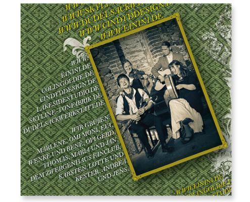 Projekt CD-Artwork für Einini - Album Fledgling - Digipack Rückseite
