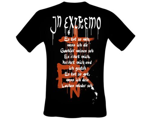 Projekt Shirt-Gestaltung für In Extremo - Motiv Gaukler - hinten